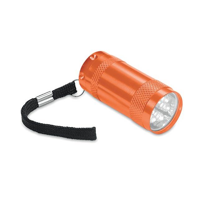 TEXAS - Hliníková mini svítilna        - oranžová