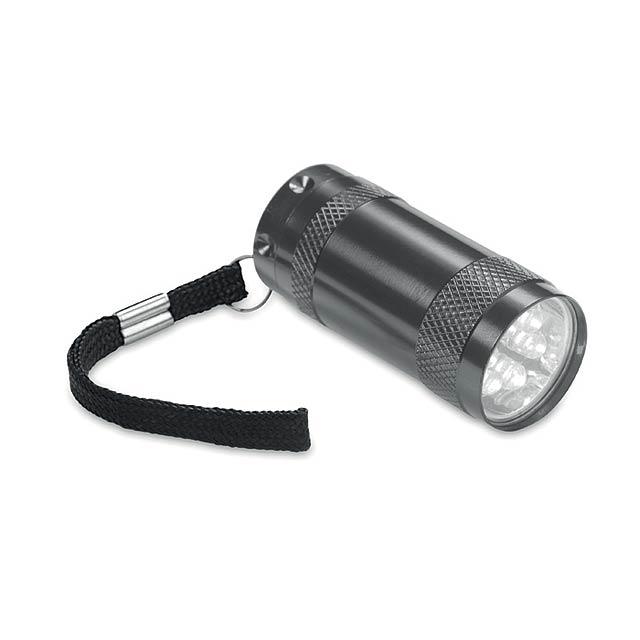TEXAS - Hliníková mini svítilna        - titanová