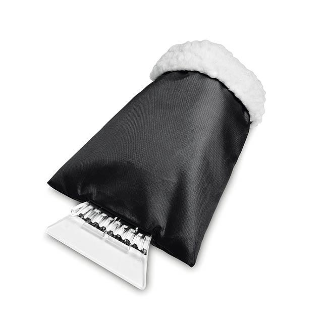 Škrabka na okna s rukavicí - WARMIX - černá