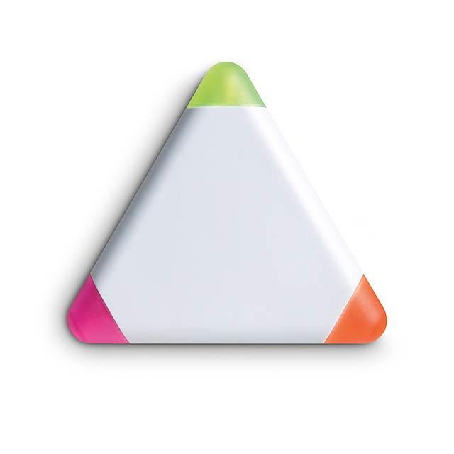 Dreikant-Highlighter 3Colour - Weiß