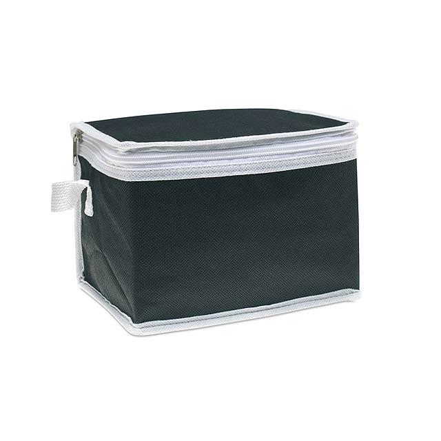 Chladící taška na 6 plechovek  - černá
