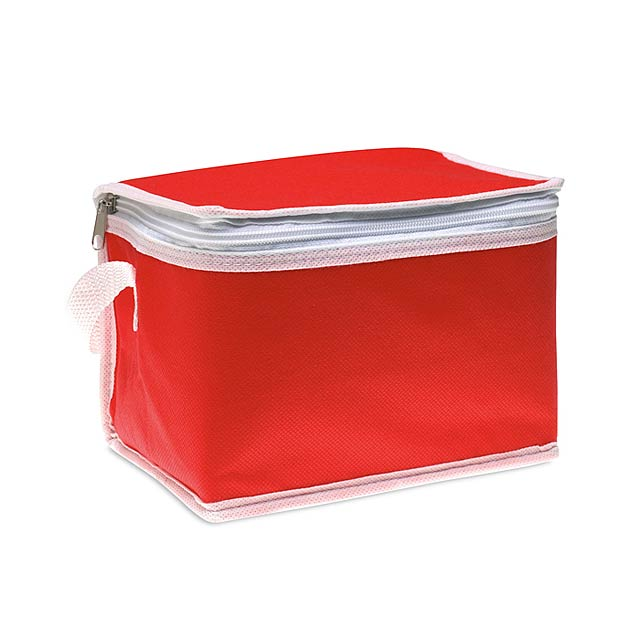 Chladící taška na 6 plechovek  - červená