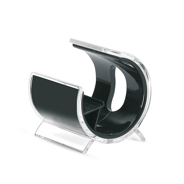 iPhone stojan a sluchátka  - černá