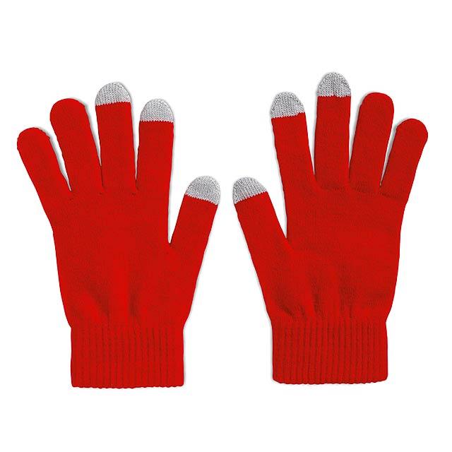Rukavice pro smartphony  - červená
