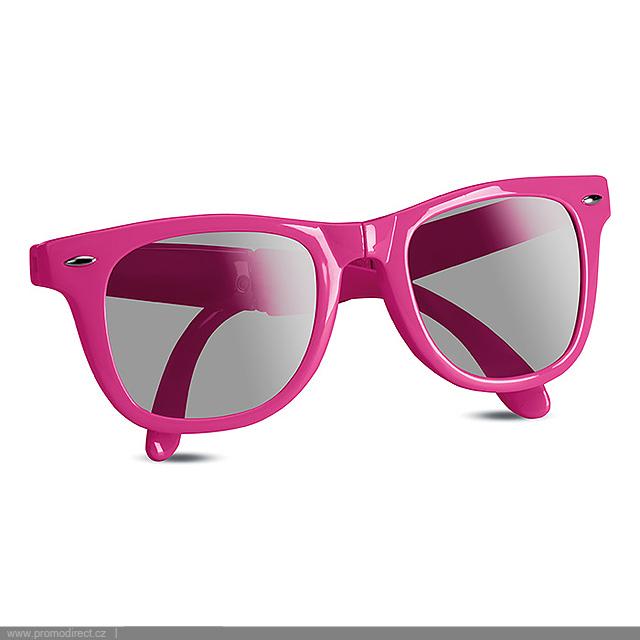 Skládací sluneční brýle  - fuchsiová (tm. růžová)