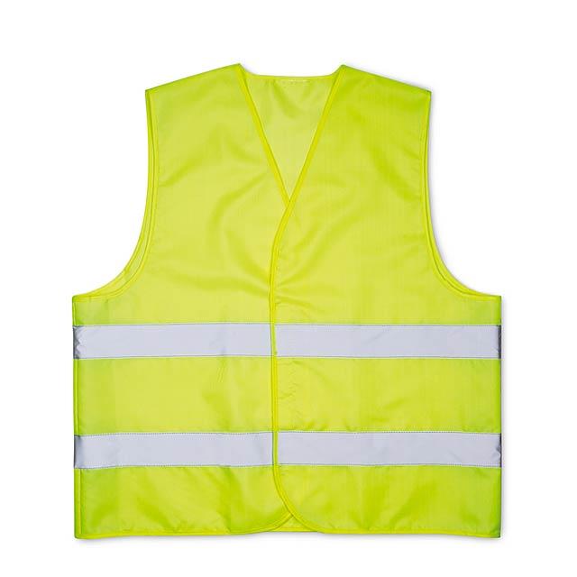 Bezpečnostní vesta do auta - žlutá