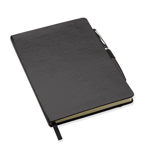 A5 zápisník s perem  - černá