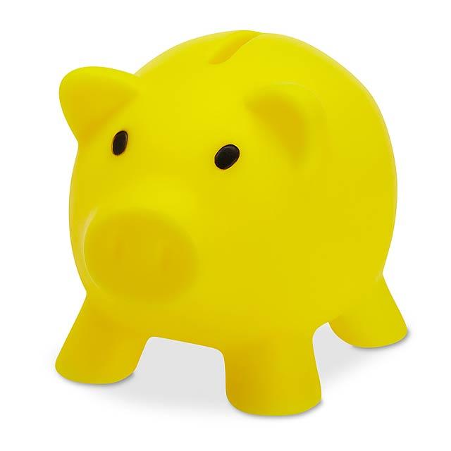 Prasátko kasička  - žlutá