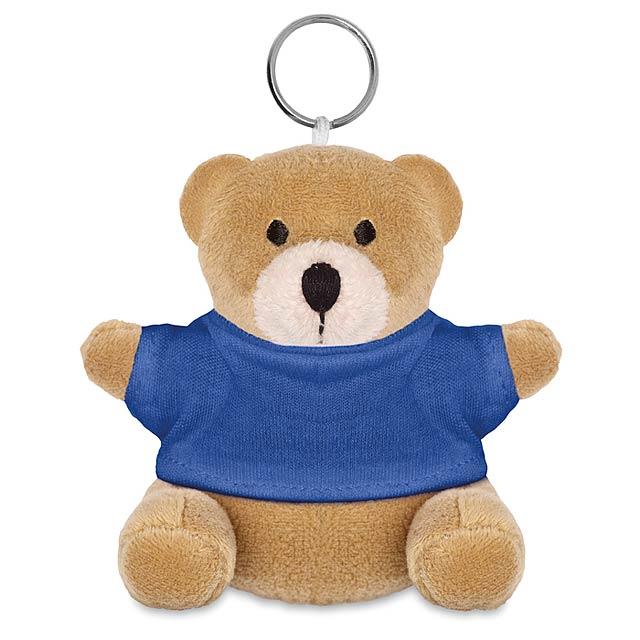 Medvěd s kroužkem na klíče  - modrá