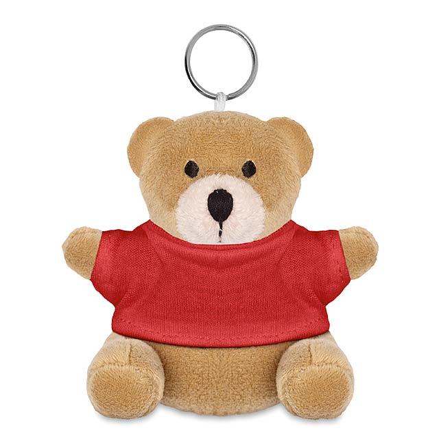 Medvěd s kroužkem na klíče  - červená