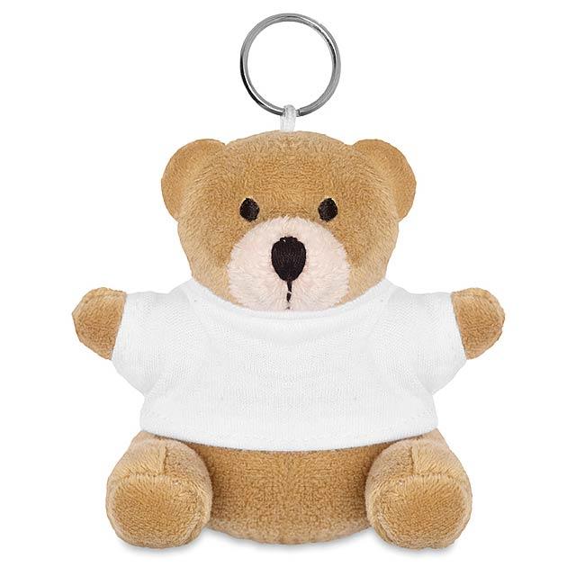 Medvěd s kroužkem na klíče  - bílá