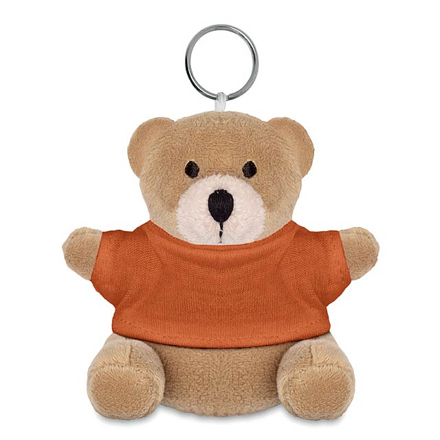 NIL - Medvěd s kroužkem na klíče     - oranžová