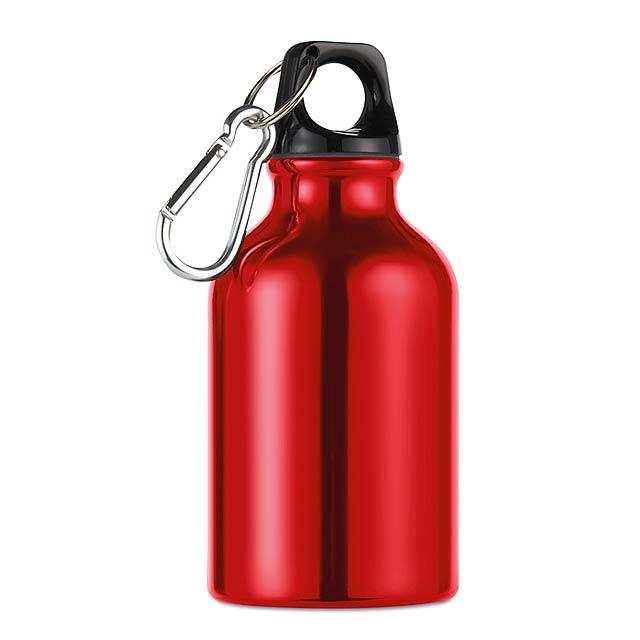 Hliníková láhev - Moss - červená