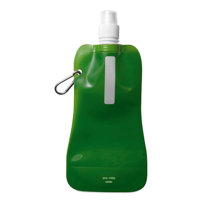 Skládací láhev na vodu  - transparentní zelená