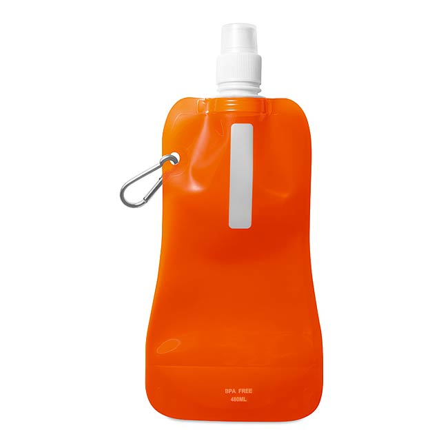 Skládací láhev na vodu  - transparentní oranžová