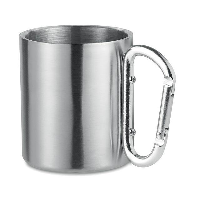 TRUMBO - Dvouplášťový hrnek             - stříbrná mat