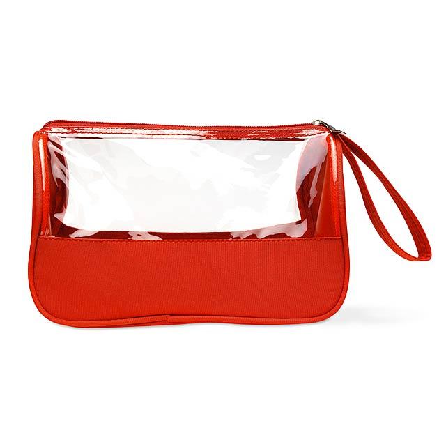 Kosmetická taštička  - červená
