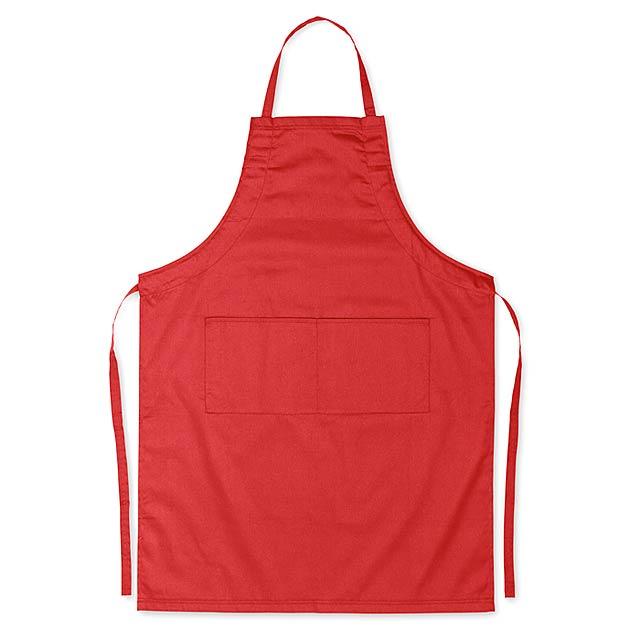 Kuchyňská zástěra - FITTED KITAB - červená