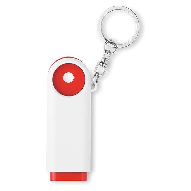 Přívěšek na klíče  - červená