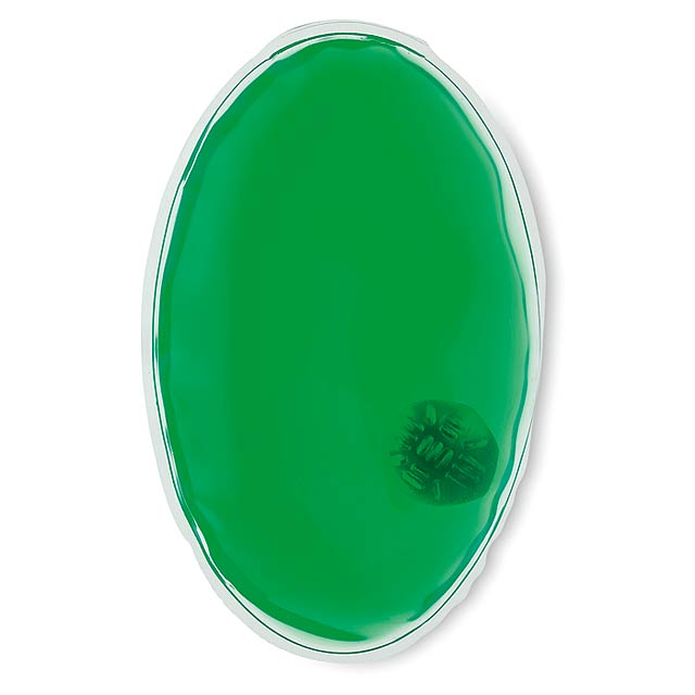 Oval hand warmer  - transparent green