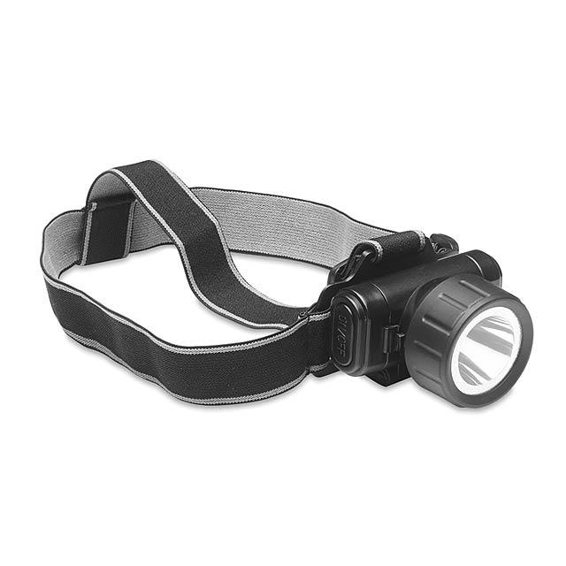 Bike head light 1W LED  - black