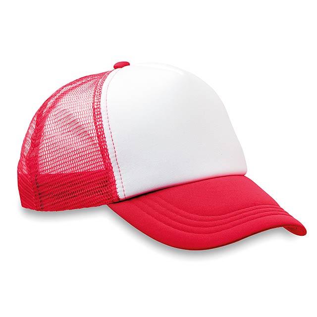 Trucker's čepice - TRUCKER CAP - červená