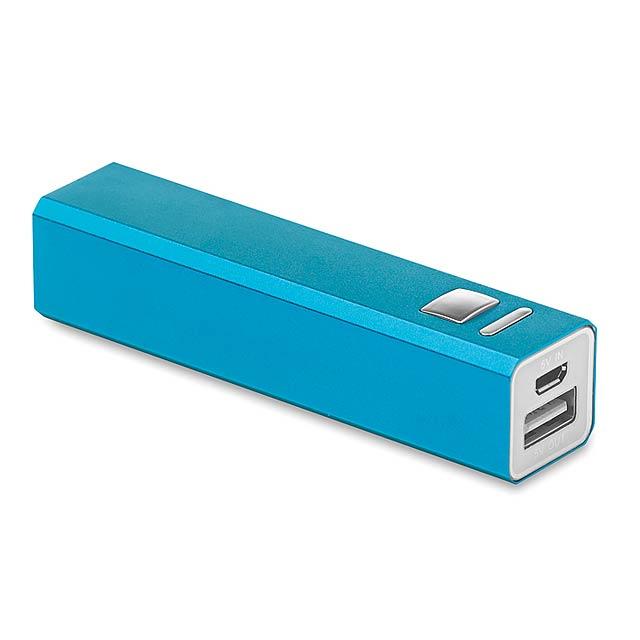Aluminium PowerBank - modrá