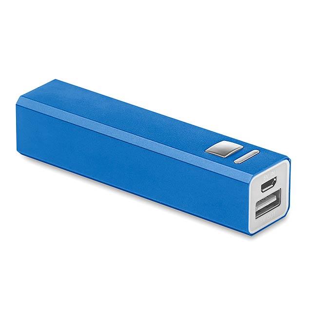 Aluminium Power Bank          - královsky modrá