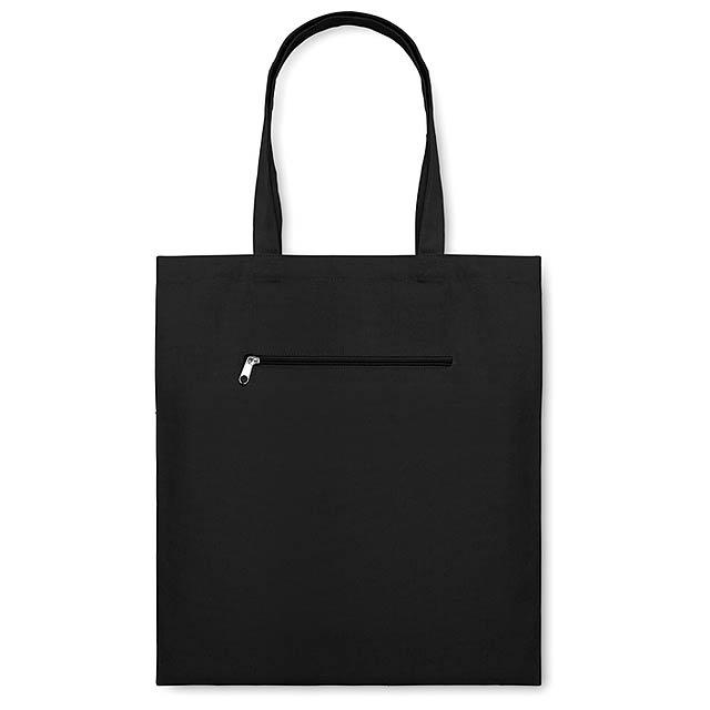 Plátěná nákupní taška - MOURA - černá