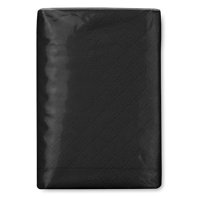 Mini tissues in packet  - black