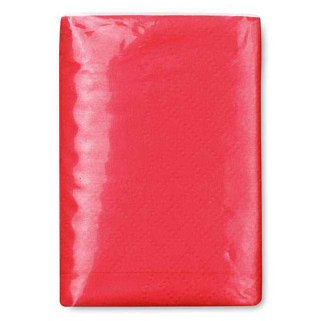Mini tissues in packet  - red