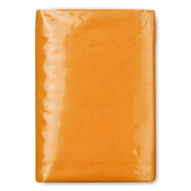 Mini tissues in packet  - orange