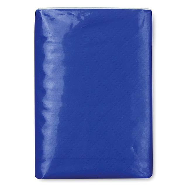 Mini tissues in packet  - royal blue