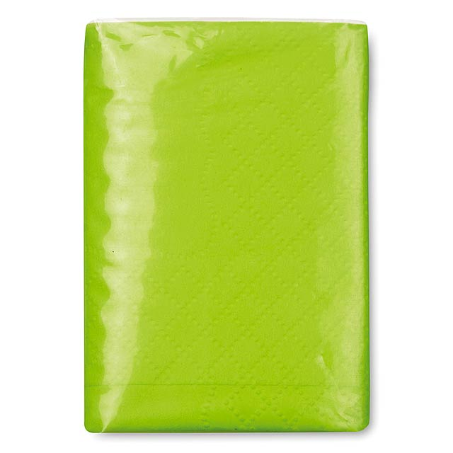 Mini tissues in packet  - lime