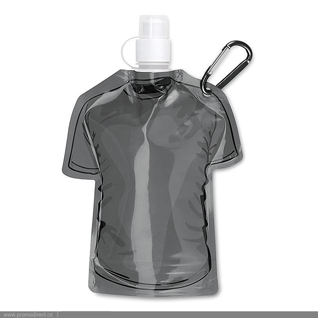 Skládací láhev tričko - SAMY - černá