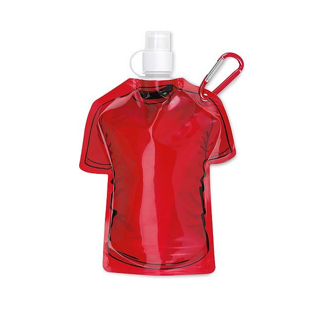 Skládací láhev tričko - SAMY - červená