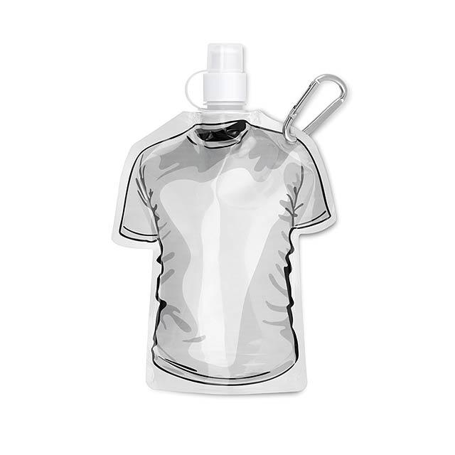 Skládací láhev tričko - SAMY - bílá