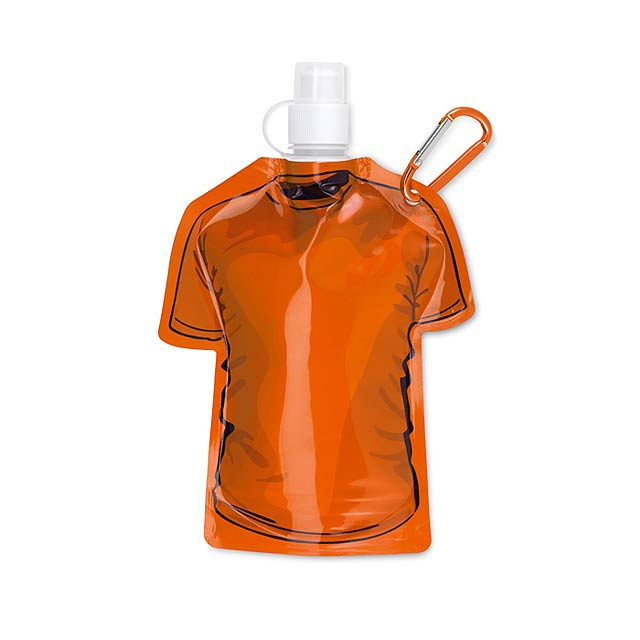 Skládací láhev tričko - SAMY - oranžová