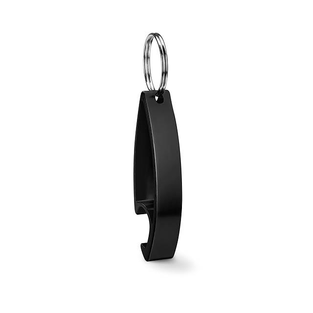 Klíčenka otvírák - COLOUR TWICES - černá
