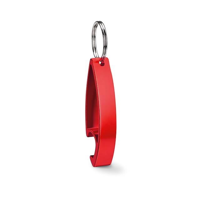 Klíčenka otvírák - COLOUR TWICES - červená