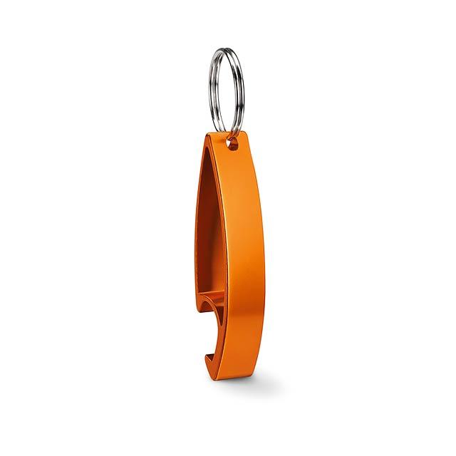 Klíčenka otvírák - COLOUR TWICES - oranžová