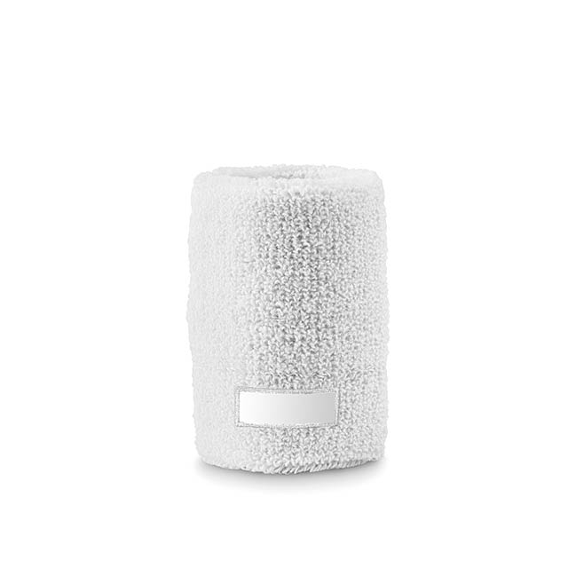 sweat wristband acrylic or cot - white