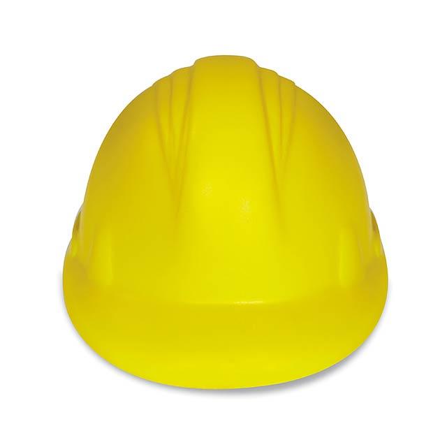 Anti-stress PU helma - MINEROSTRESS - žlutá