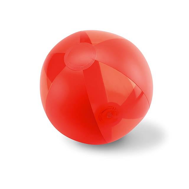 Nafukovací plážový míč - AQUATIME - červená