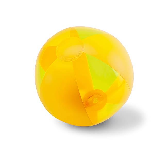 Inflatable beach ball  - yellow
