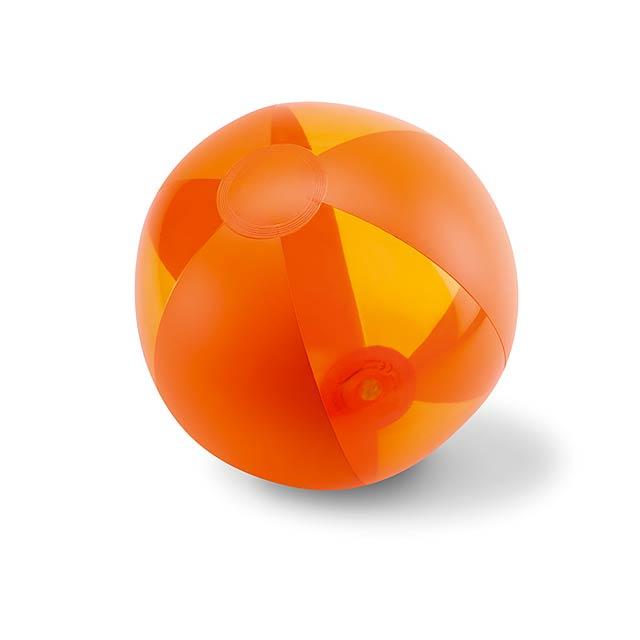 Nafukovací plážový míč - AQUATIME - oranžová