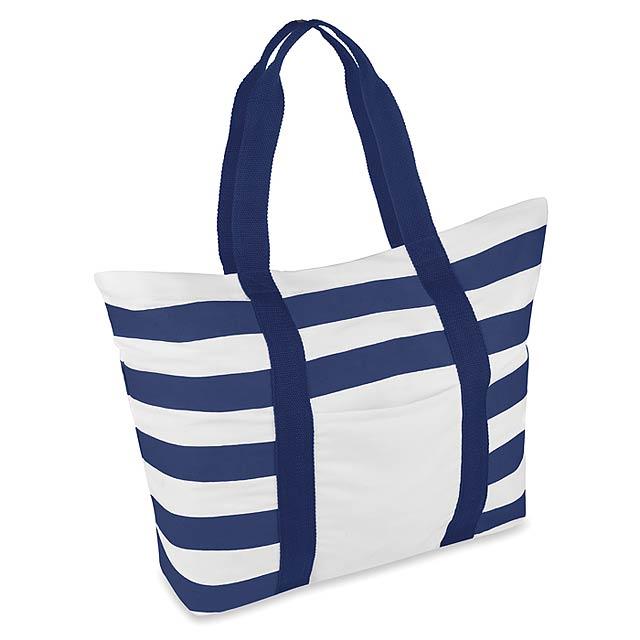 Pruhovaná plážová taška - BLINKY STRIPES - modrá