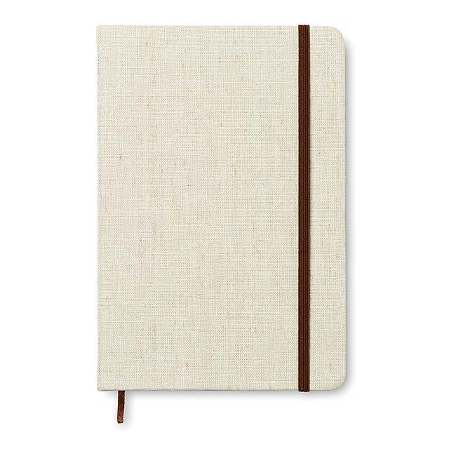 A5 zápisník - notes s plátěnou obálkou - CANVAS - béžová