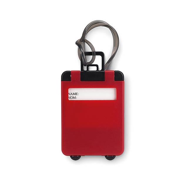 Plastové jmenovky - TRAVELLER - červená