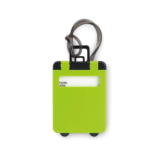 Plastové menovky - TRAVELLER - zelená